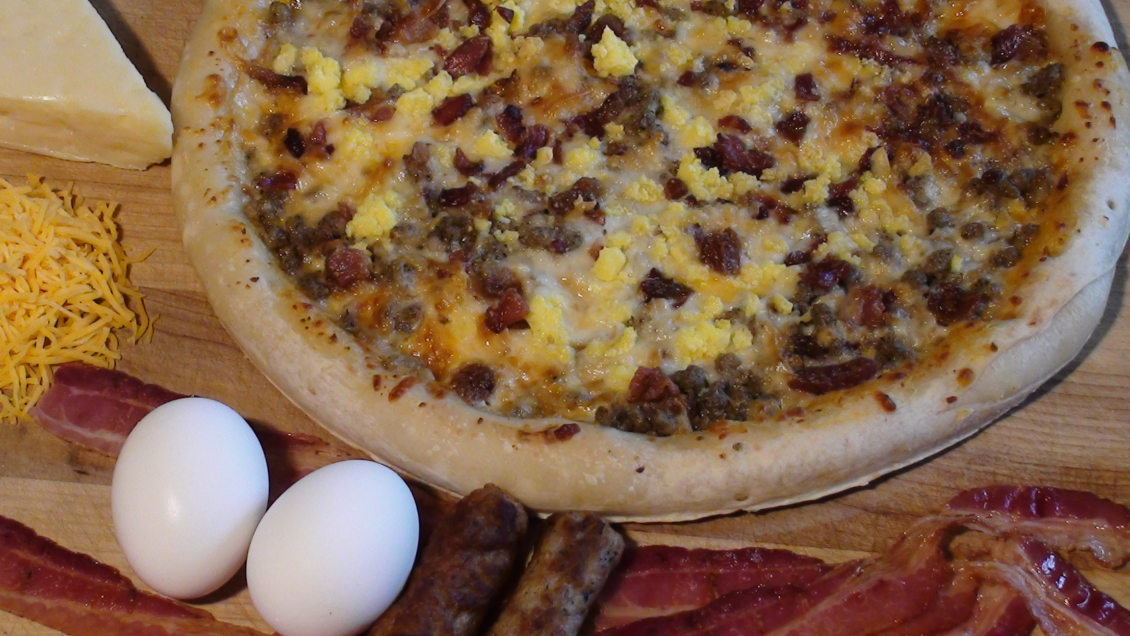 "12"" Breakfast Pizza with Rising Crust"